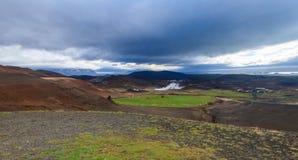 Krafla Geothermal Power Station in Myvatn Iceland Royalty Free Stock Photo