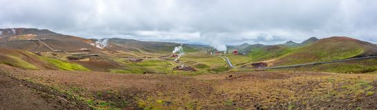 Krafla Geothermal Power station in North Iceland stock image