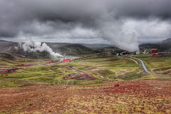 Krafla geothermal power station in northern Iceland Stock Photos