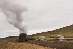 KRAFLA, ICELAND - AUGUST 2018: Borehole well of Krafla Power Station, Iceland royalty free stock images