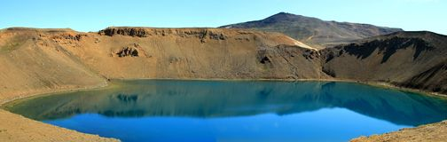 Iceland 2012. Krafla Iceland summer lake in volcano in summer 2012 Royalty Free Stock Photography
