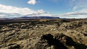 Krafla lava field stock footage