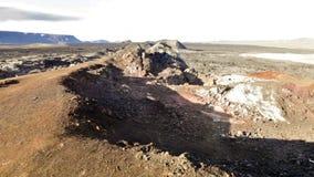 Krafla lava field stock video footage