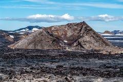 Krafla-Lavafelder - Island stockbilder
