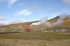Krafla power station, Iceland. Stock Photos