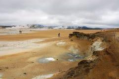 Krafla volcanic area, Iceland. Krafla steam boreholes valley in Iceland Stock Photography