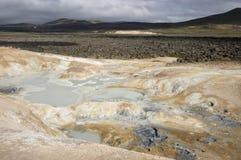 Krafla volcanic area, Iceland. Royalty Free Stock Images