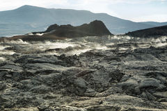 Krafla volcanic area Royalty Free Stock Image