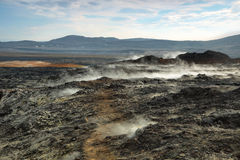 Krafla volcanic area Royalty Free Stock Photo