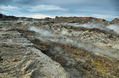 Krafla volcanic area Royalty Free Stock Photography