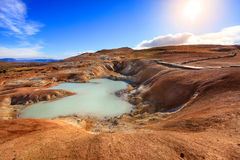 Krafla volcanic field Royalty Free Stock Image
