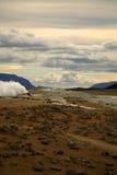 krafla wulkaniczny krajobrazu Obrazy Royalty Free