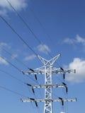 Kraftübertragungzeile Stockbild