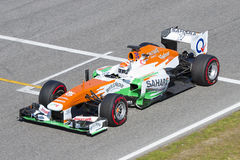 Kraft der Formel-1 Indien - Adrian Sutil Lizenzfreie Stockfotografie