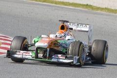 Kraft der Formel-1 Indien - Adrian Sutil Stockbilder