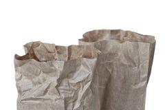 Kraft för överkant två packe med rektangulär botten som isoleras på vit bakgrund arkivfoton