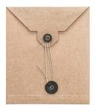 Kraft för kuvert för tappningstolpepost papper arkivfoton