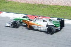 Kraft Indien-Mercedes Formel 1-Team Adrian-Sutil Lizenzfreies Stockfoto
