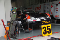 Kraft Lexus team garage, SuperGT 2010 Royalty Free Stock Images