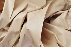 Kraft paper. Closeup of crumpled Kraft paper Royalty Free Stock Photos
