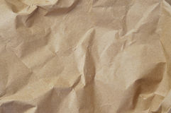 Kraft paper. Closeup of crumpled Kraft paper Stock Image