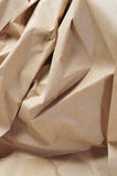 Kraft paper. Closeup of crumpled Kraft paper Royalty Free Stock Photo
