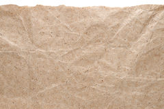 Kraft paper background with torn edge Stock Photo