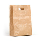 Kraft paper bag Royalty Free Stock Image