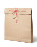 Kraft paper bag Stock Photo
