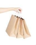Kraft paper bags Stock Photos