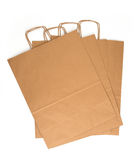 Kraft paper bags Royalty Free Stock Photos