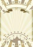Kraft paper circus sunbeams poster Royalty Free Stock Photo