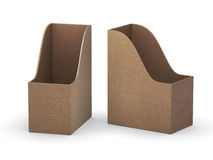Kraft paper curve blank  file holder with clipping path Stock Images