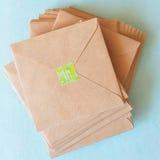 Kraft paper envelopes Royalty Free Stock Photo