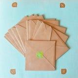 Kraft paper envelopes Stock Images