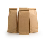 Kraft paper packages Stock Images