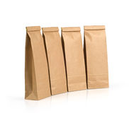 Kraft paper packages Stock Photos