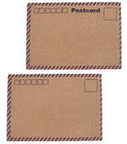 Kraft paper postcards Royalty Free Stock Photography