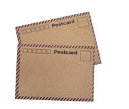 Kraft paper postcards Stock Images