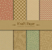 Kraft Paper Seamless Backgrounds. Kraft paper  seamless patterns. Can be used for wallpaper and textile design, pattern fills, website backgrounds, surface Stock Photography