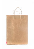 Kraft paper shopping bag Stock Photography
