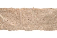 Kraft papper med sönderrivna kanter royaltyfri bild