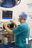 In Kraft Raum des Anaesthetist Stockfoto
