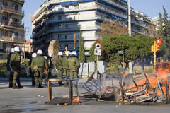 krafter förser med polis specialen Royaltyfri Foto