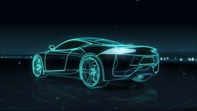 Kraftfahrzeugtechnik Laufendes Auto Ansicht mit 360 Röntgenstrahlen stock abbildung