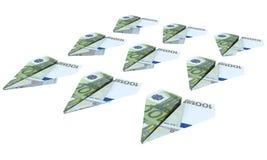 Kraftflugzeug vom Euro fliegt Stockfoto