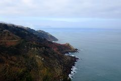 Kraftfull SAN Sebastian Coast arkivbilder
