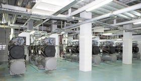 Kraftgenereringsystem för köpcentrum fabriks- och uppehälleplatser Arkivfoton