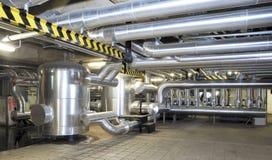 Kraftgenereringsystem för köpcentrum fabriks- och uppehälleplatser Arkivbilder