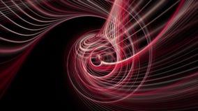 Kraftig animering med bandvågobjekt i ultrarapid, 4096x2304 ögla 4K arkivfilmer
